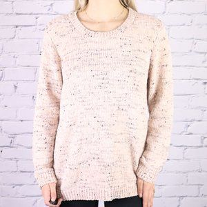 NWT Calvin Klein pink and grey chenille sweater